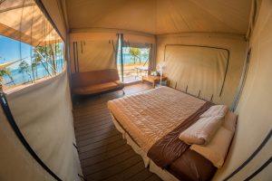Inside Eco tent room
